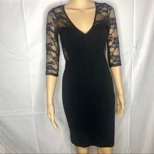 Bebe Black Lace Bodycon Mini Dress